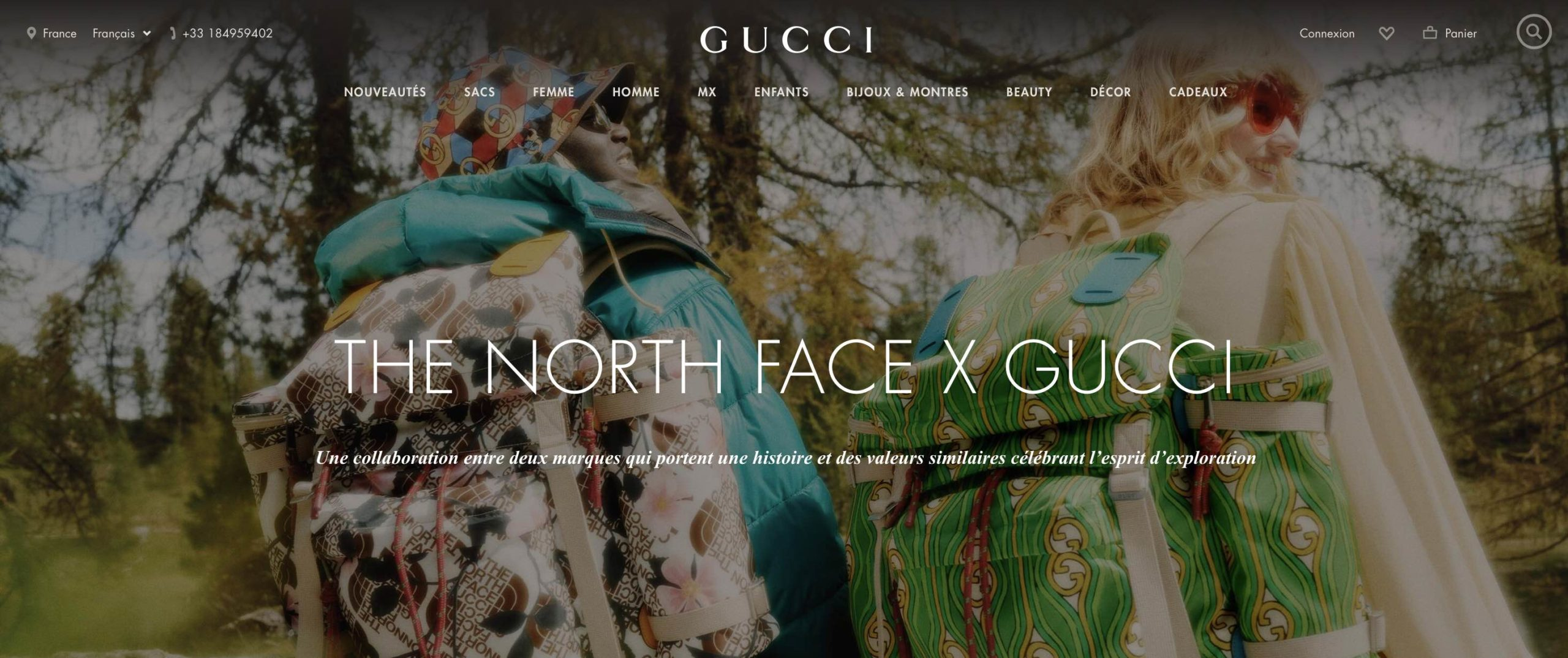 collab marques Gucci x The North Face